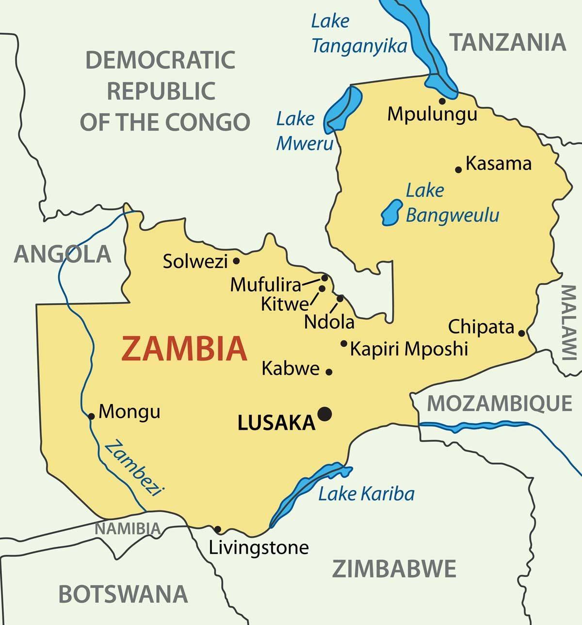 Lake Kariba Africa Map.Kitwe Zambia Map Map Of Kitwe Zambia Eastern Africa Africa