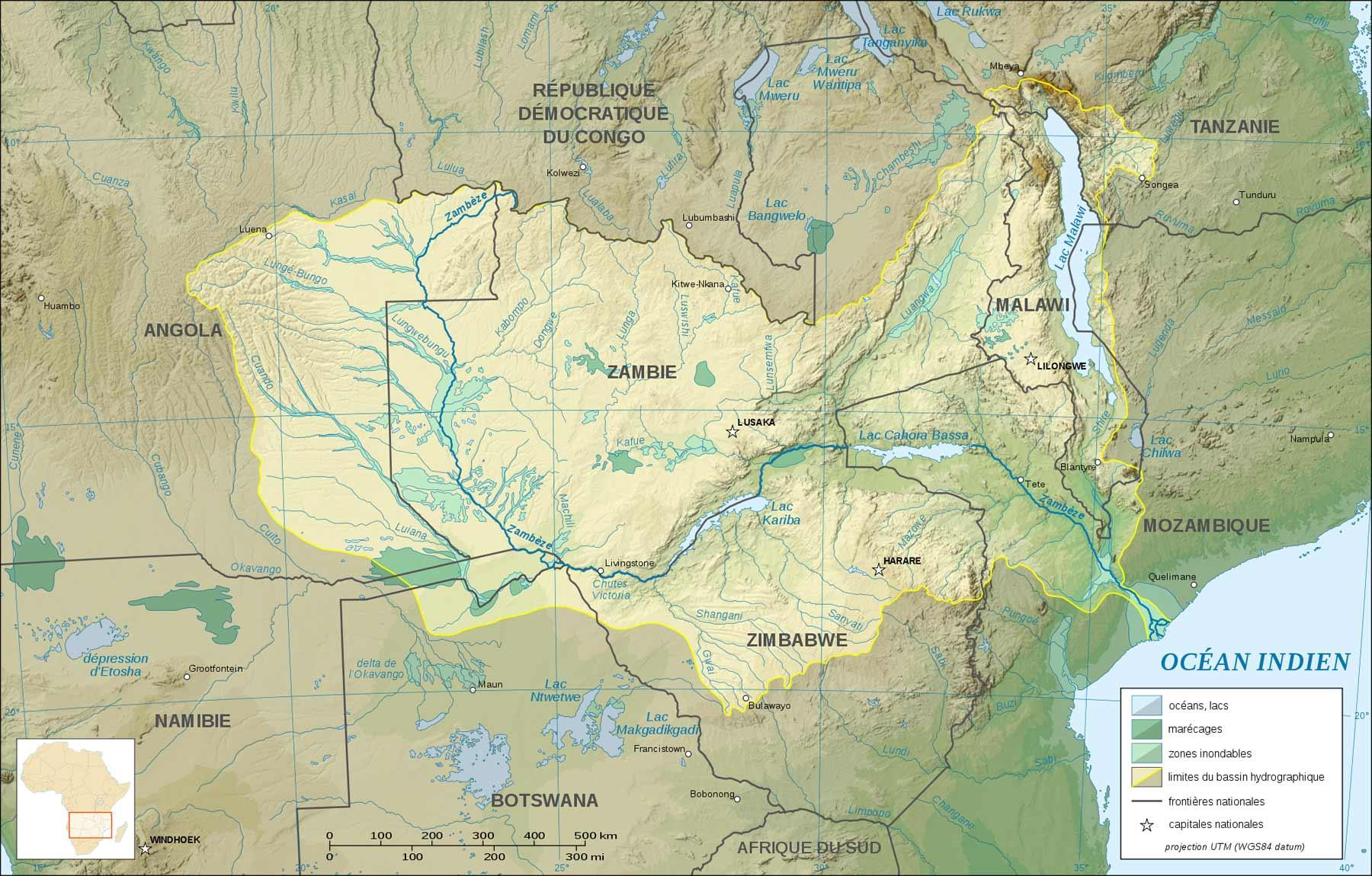 Zambian Map Rivers.Map Of Zambia With Rivers Map Of Zambia Showing Rivers And