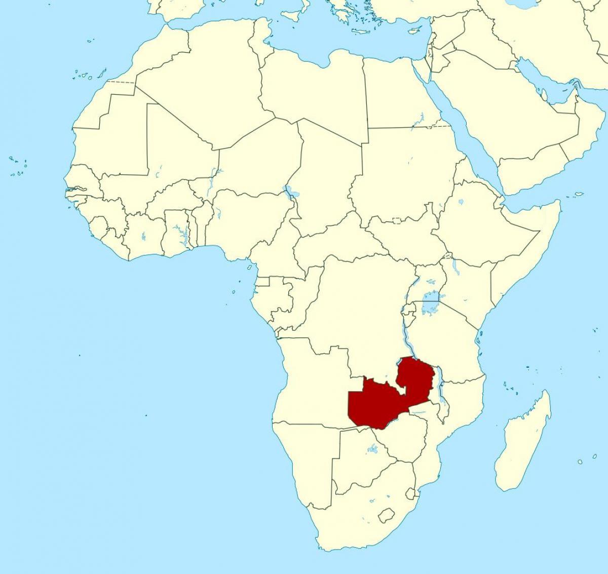 Zambia location on world map - Map of Zambia location on world ...