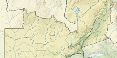 Map of Zambia river